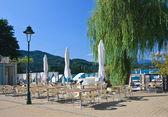 Resort Portschach am Worthersee and Lake Worth (Worthersee). Austria — Stockfoto