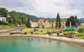Resort Reifnitz . Lake Worth. Carinthia, Austria — Stock Photo