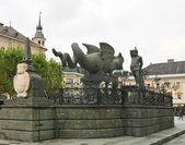 Dragon Fountain in Klagenfurt. Carinthia. Austria — Stock Photo