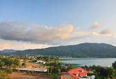 Resort Portschach am Worthersee. Austria — Zdjęcie stockowe