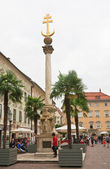 Holy Trinity Column in Klagenfurt. Carinthia. Austria — Stock Photo
