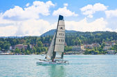 Resort Velden am Worthersee. Austria — Stock Photo