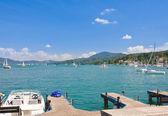 Marina. Resort Velden am Worthersee. Austria — Stock Photo