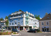 Hotel Velden am Worthersee See. Austria — Stock Photo