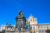 Museum of Natural History. Monument to Maria Theresa. Vienna. Au — Stock Photo