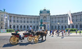 Hofburg. New Castle with equestrian statue of Prince Eugene of S — Stock Photo