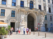 Sculpture depicting the labors of Hercules. Hofburg Palace porta — Stock Photo