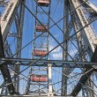 Ferris wheel in the Prater amusement park. Vienna. Austria — Stock Photo #49027235