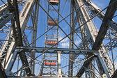 Ferris wheel in the Prater amusement park. Vienna. Austria — Stock Photo