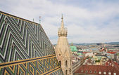 View of Vienna with St. Stephen's Cathedral. Austria — Foto de Stock