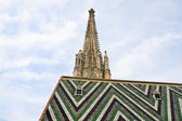 Tower and roof of St. Stephen's Cathedral. Vienna. Austria — Foto de Stock