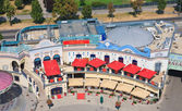 Riesenradplatz area in the Prater Amusement Park. Vienna. Austri — Stock Photo