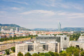 View of Vienna from the Ferris wheel in the Prater. Austria — Stock Photo