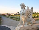 Mythical Sphinx. Belvedere, Vienna, Austria — Stock Photo