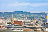 View of Vienna with St. Stephen's Cathedral. Austria — Stock Photo