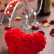 Romantic dinner. Valentines day. — Stock Photo