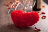 Romantic dinner. Valentines day. — Stock Photo