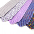 Some stylish silk male tie ( necktie ) on white. — Stock Photo