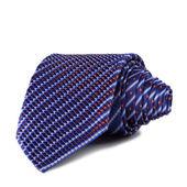 Stylish silk male tie ( necktie ) on white. — Stock Photo