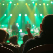Audience applauded at the concert artists. — Stock Photo #33143515