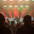 Audience applauded at the concert artists. — Foto de stock #33143539