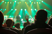 Audience applauded at the concert artists. — Стоковое фото