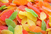 Dulce fruta confitada. — Foto de Stock