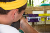 Shooting at the rifle range. — Stock Photo