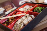 Boxing with Japanese food. — Stock Photo