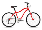 Red Bicycle on a white background. Vector. — Stock Vector