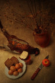 Still life with pheasant — Stock Photo