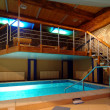 Cosy and beautiful pool in modern hotel — Stok Fotoğraf #13471723