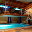 Cosy and beautiful pool in modern hotel — Stok fotoğraf