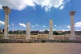 Ancient basilica columns of Creek colony Chersonesos — Stock Photo