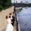 Romantic wedding couple - Lizenzfreies Foto