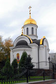 Iglesia ortodoxa en la ciudad de donetsk — Foto de Stock