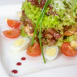 Warm salad of vegetables and meat - Foto de Stock