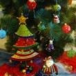 图库照片: Christmas tree ornaments