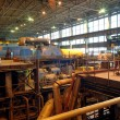 Steam turbine on power plant - Photo