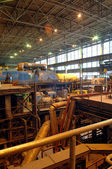 Steam turbine on power plant — Photo
