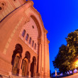 Night of the old synagogue of Uzhgorod, Ukraine — Stock Photo #19206893