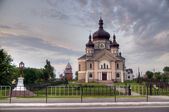 Church in the village Zapytov Lviv region — Stock Photo