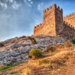 tower of genoa fortress in sudak crimea — Stock Photo