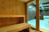 Wooden sauna cabin — Stock Photo