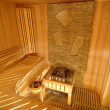Wooden sauna cabin — Stock Photo