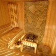 Wooden sauna cabin - Stock Photo