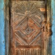 Old little wooden door - Stock Photo
