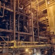 Steam turbine at a power plant - Photo