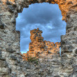Old castle ruins in village Seredne Ukraine - Stock Photo