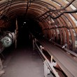 Stock Photo: Tunnel to dark from coal mine